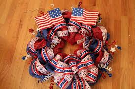 patriotic wreaths for front doorPatriotic Mesh Wreath Tutorial  The Crafty Blog Stalker