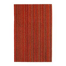 buy chilewich skinny stripe shag rug  orange  amara
