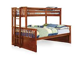 Amazon.com: Furniture of America Pammy Twin over Queen Bunk Bed ...