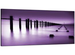 on 5 panel wall art uk with cheap purple canvas prints of the seaside