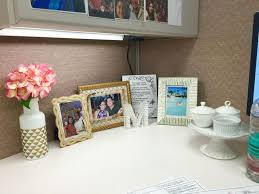 My cubicle decor and organization... the cake stand has 3 cute little cups