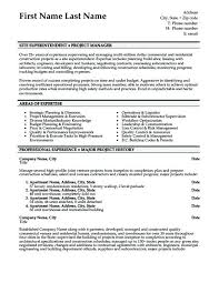Superintendent Resume Samples Construction Superintendent Resume