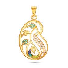 peacock stone pendant