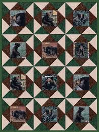 Black Bear Mountain Pre-Cut Quilt Kit V2 | Bears, Shopping and Black & Black Bear Mountain 12 Pre-Cut Quilt Kit 8