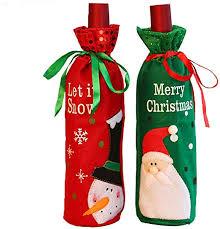 <b>Snowman</b>/<b>Santa</b> Claus <b>Christmas</b> Decoration <b>Sequins</b> Red <b>Wine</b> ...