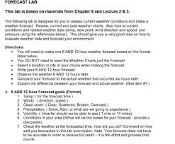 Significant Weather Charts Explained Solved Forecast Lab This Lab Is Based On Materials From C