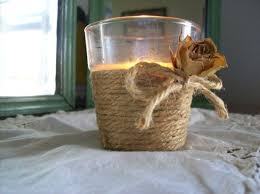 Votive Wrapped in Twine. Candles are widely used in craft ...