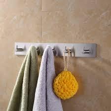 KES Self Adhesive Hooks Rail STAINLESS STEEL 5 Hook Rack Bath Towel