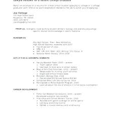 Best Resume Format For Recent College Graduates Sample Resumes For Recent College Graduates Vitadance Me