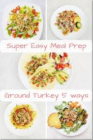 Easy low calorie baked ground turkey sriracha meatballs, easy, healthy family friendly favorite, 4 smartpoints. Easy Meal Prep 5 Days Of Healthy Meals With Ground Turkey Run Eat Repeat