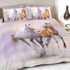 horse single duvet cover and pillowcase bed set bedding spirit co uk kitchen home