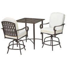 home depot outdoor furniture. oak cliff custom 3piece metal outdoor balcony height bistro set home depot furniture 7