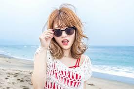 海プールの髪型ミディアム編前髪もかわいく簡単アレンジ 女子マガ