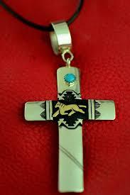 navajo kingman turquoise horse cross by rosita singer