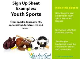 Online Sign In Sheet Online Sign Up Sheets For Youth Sports