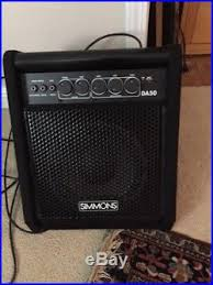 simmons amp. roland electronic drumset and simmons amp r