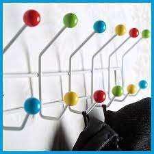 Coloured Ball Coat Rack COAT HANGER COLOUR BALL Coat Hooks Towel Rack Wall Mounted Hanging 11