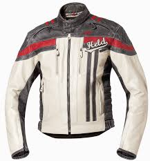 another colour choice of the the held harvey leather motorcycle jacket