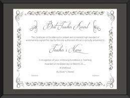 best teacher award template download our sample of best teaching performance award certificate