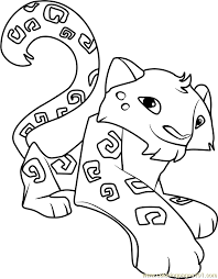 Animal Jam Snow Leopard Coloring Pages Bltidm