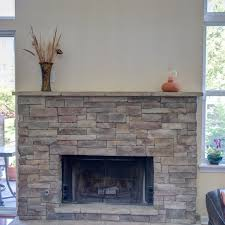 your new stone fireplace with or without mortar joints