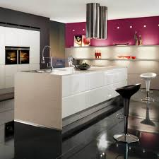 Luxury Italian Kitchens Comfortable Beautiful Modern Kitchen With White Brown Stainless
