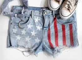 turn heads with these adorable diy american flag shorts