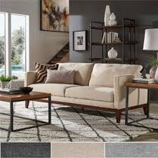 Modern couches for sale Combination Vail Linen Upholstered Sofa And Loveseat By Inspire Modern Overstock Buy Sofas Couches Sale Ends In Day Online At Overstockcom Our
