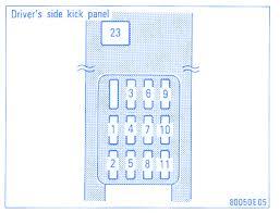 toyota corolla 1997 kick panel fuse box block circuit breaker 2001 toyota corolla fuse box location at Toyota Corolla Fuse Diagram