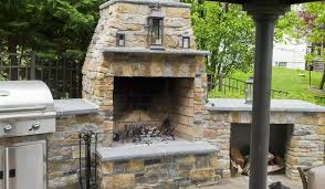 free standing outdoor wood burning fireplace home design