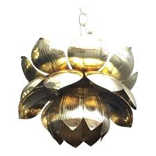 wonderful gold lotus hanging pendant lamp chandeliers cost plus world with