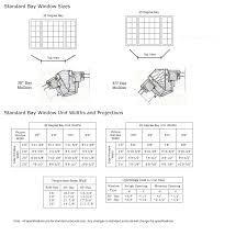 Bay Window Size Chart Classic Windows Inc