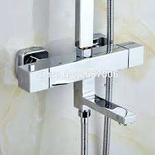 wall mount bathtub faucet free good quality square wall mounted bathtub faucet thermostatic valve shower