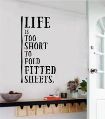 laundry room decor lifes too short to fold vinyl decal wall stickers letters art on adhesive wall art letters with laundry room decor lifes too short to fold vinyl decal wall stickers