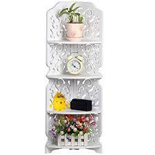 Shabby Chic Corner Shelves Unique Popamazing White 32 Tier Carved Shabby Chic Corner Shelf Storage Unit