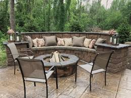 stamped concrete patio with fireplace. Seating Wall Fire Pit And Stamped Concrete Patio Outdoor Oasis Sealing Portland Me With Fireplace T