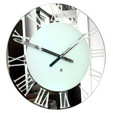 large round mirrored wall clock large clock mirror