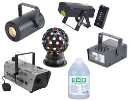 american dj festive light pak ii dyno ii fog smoke machine w fluid micro galaxian laser light lighting t bar stand package
