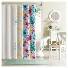 floral shower curtain. Skye Floral Shower Curtain