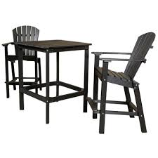 black pub table and chairs made poly classic patio high 3 piece dining pub set dinette table and 4 chairs