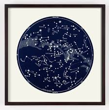 Constellation Chart Star Map Constellation Print
