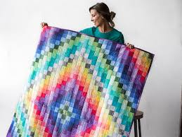 What Is Bargello Quilting? An Overview and Pretty Patterns & Color My World Quilt Kit Adamdwight.com