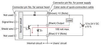 compact inductive proximity sensor ga 311 gh i o circuit and i o circuit diagram