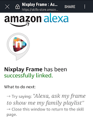 nixplay frame skill link success png