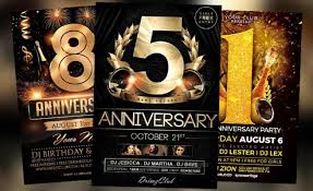 Top 25 Anniversary Flyer Templates Collection Download For