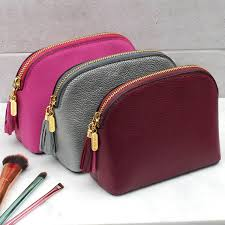 original luxury leather cosmetic or toiletries bag 2