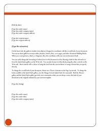 Letter Format Templates Letter Equity theme Office Templates 9