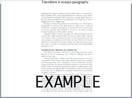 Example In Essays Transition Examples For Essays Transitions In Essays Paragraphs A