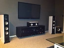 living room home theater. living room:design examples room theater gray wall black carpet brown floor glass coffe home f