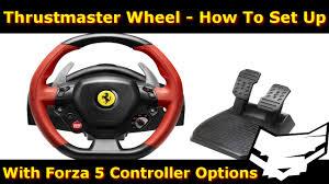 Thrustmaster Ferrari 458 Spider Wheel Setup Forza 5 Settings Youtube